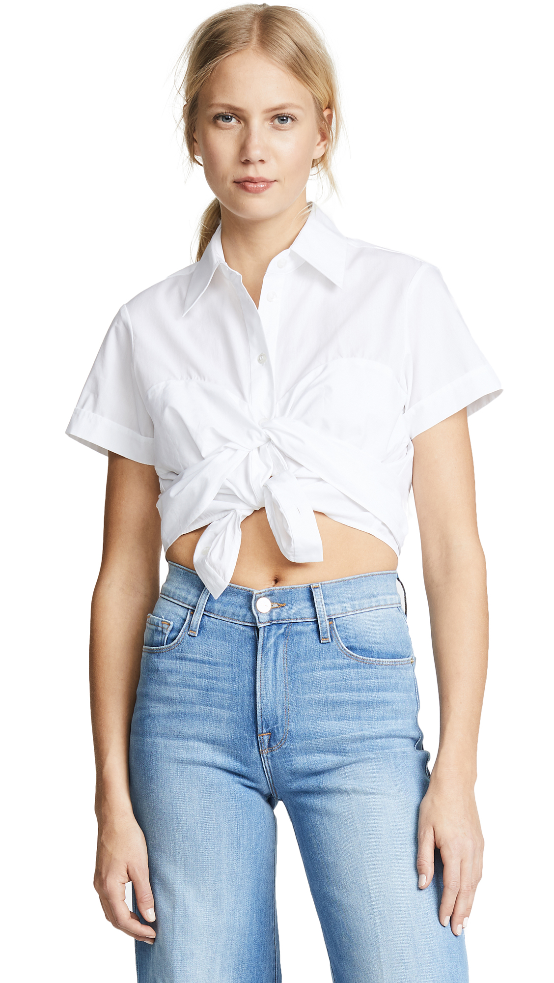 CROPPED BUSTIER SHIRT