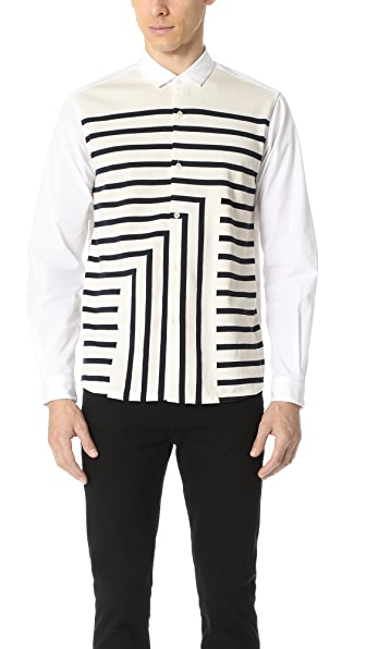 Tomorrowland Tricot Striped Long Sleeve Shirt