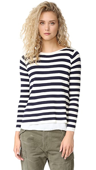 Top Secret Brooklyn Sweater - Navy Stripe/White