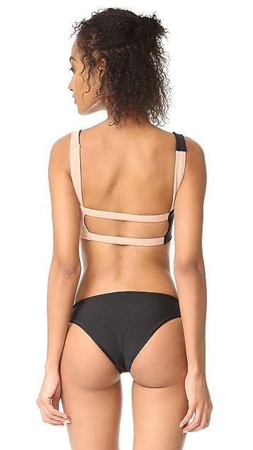 Tori Praver Swimwear Crete Colorblock Bikini Top