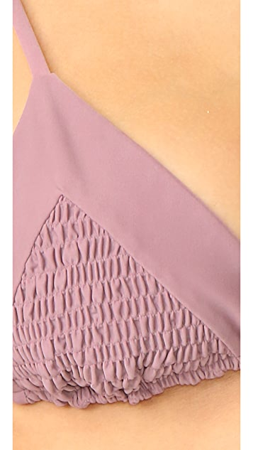 Tori Praver Swimwear Solids Lahaina Triangle Top