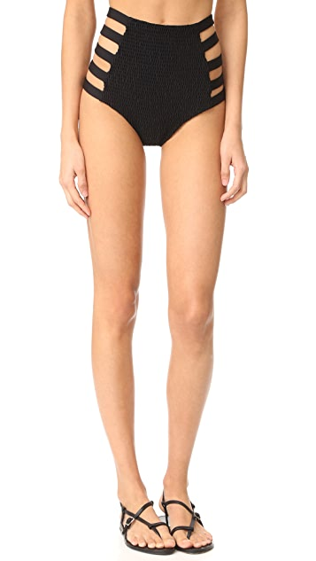 Tori Praver Swimwear Solids Vera Strappy High Waist Bottoms
