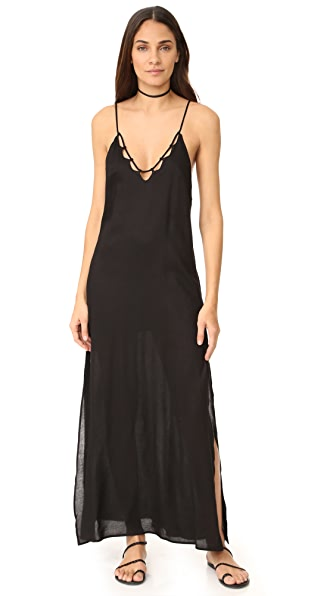 Tori Praver Swimwear Kora Maxi Dress - Black
