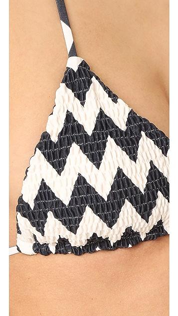Tori Praver Swimwear Zilos Kalani Triangle Bikini Top