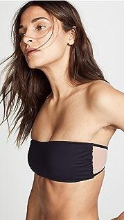 Tori Praver Swimwear Royale Bandeau Bikini Top