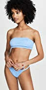 Tori Praver Swimwear Renee Smocked Bandeau Bikini Top