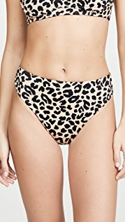 Tori Praver Swimwear Savannah Cheeky High Waisted Bikini Bottoms