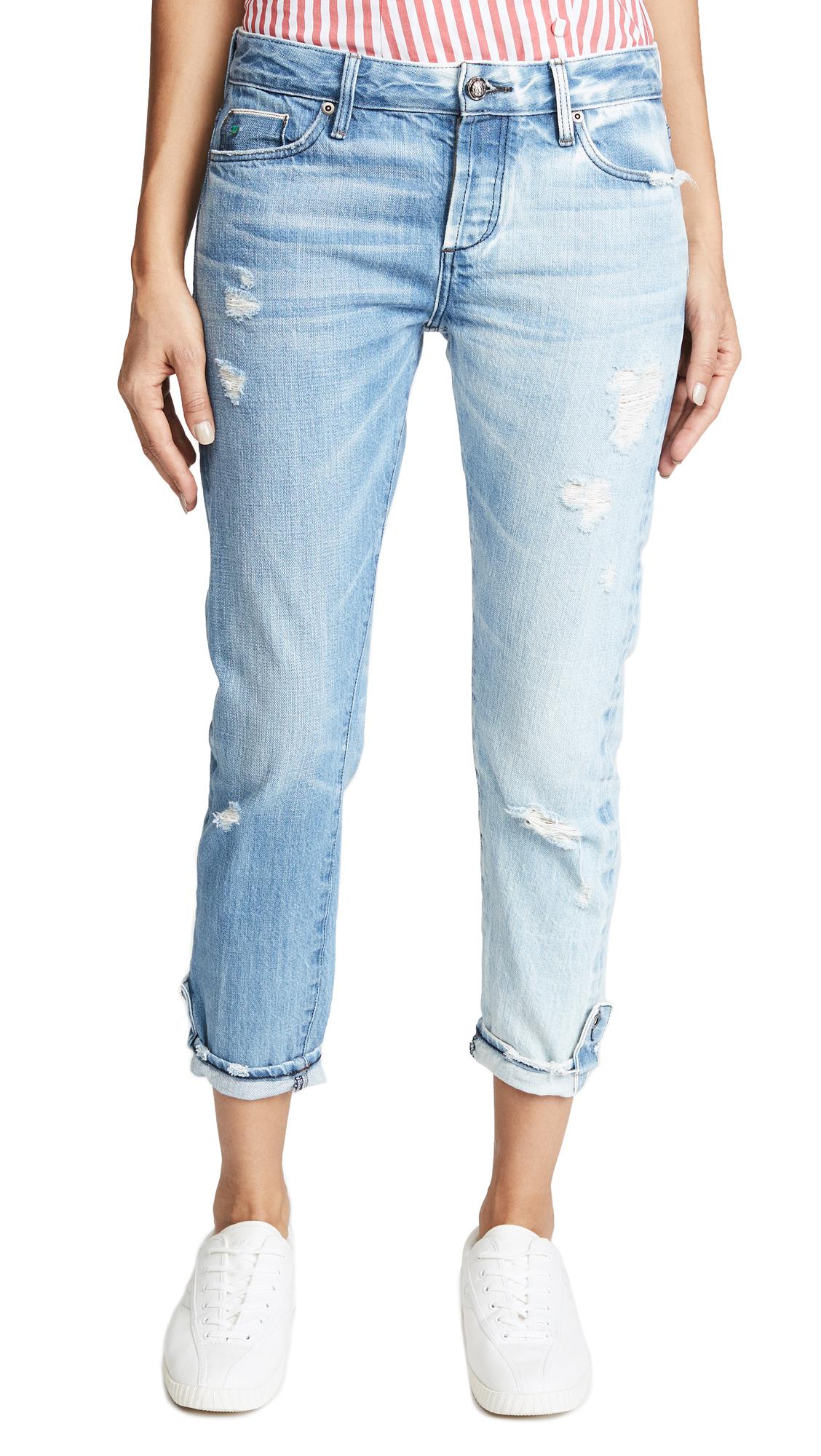 Tortoise Savanna Rigid Cropped Slim Straight Jeans