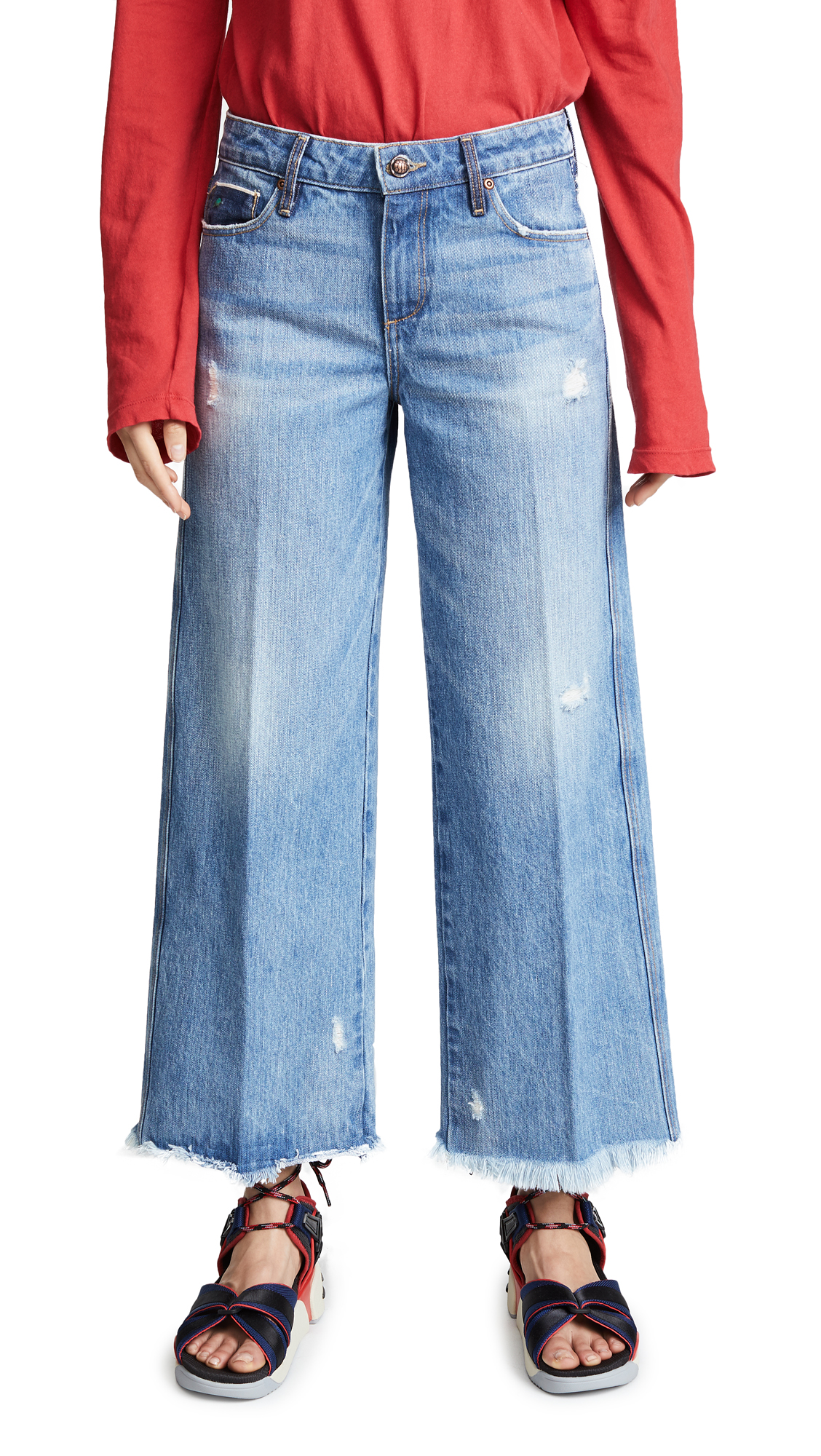 Tortoise Canni Slouchy Wide Leg Cropped Jeans