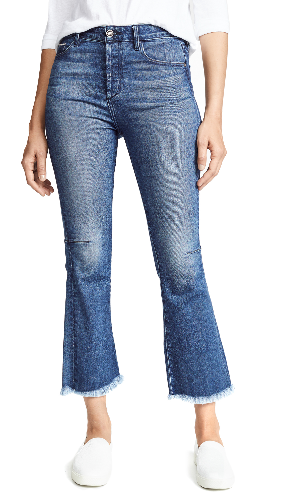 Tortoise Bellatula Highrise Cropped Flare Jeans In Magnetic