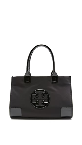 Tory Burch Nylon Mini Ella Tote - Black
