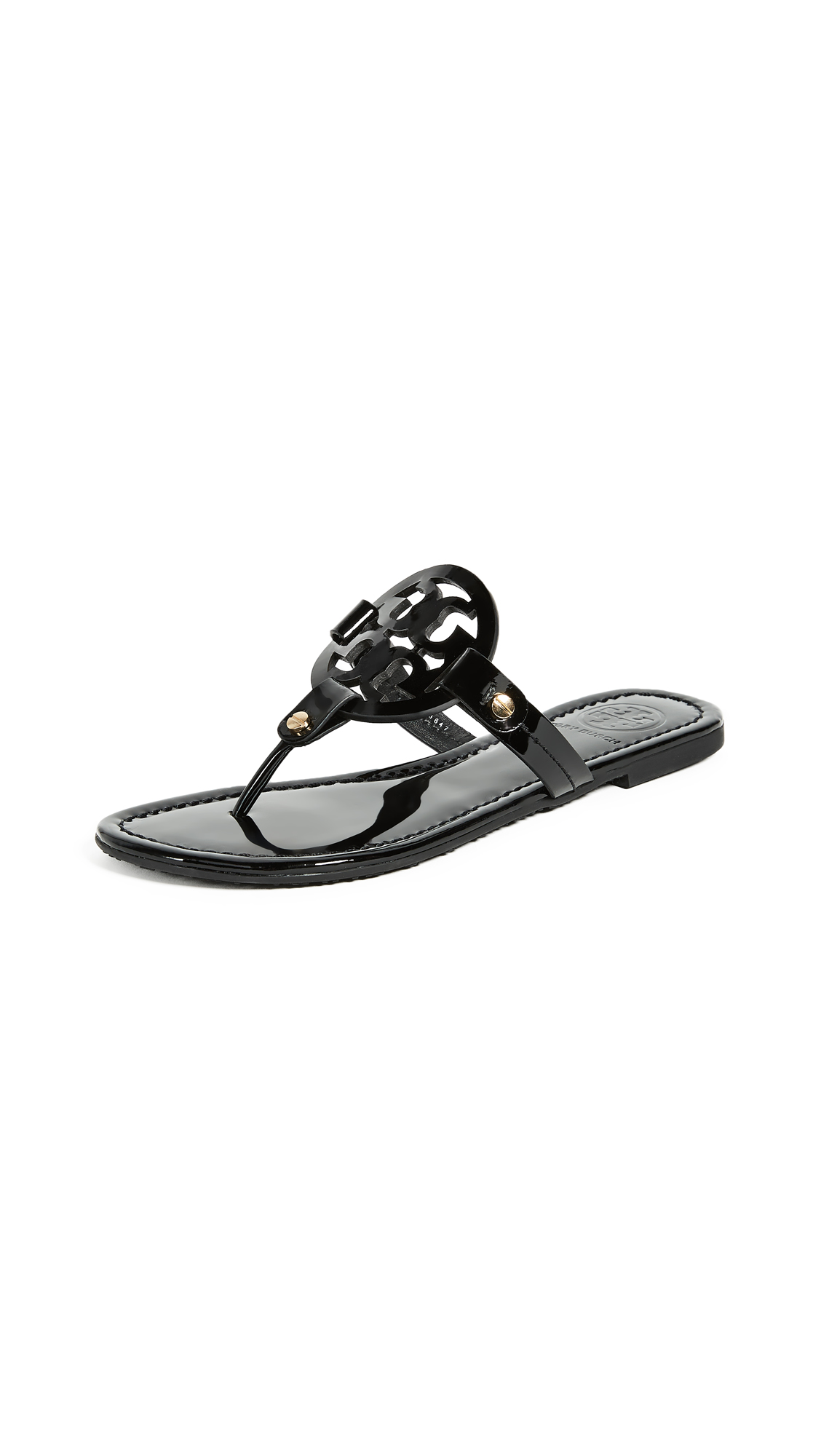 Tory Burch Miller Thong Sandals - Black