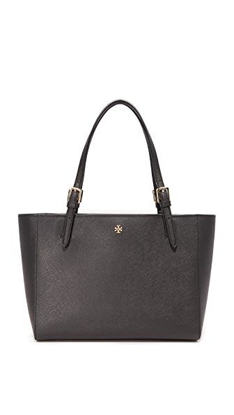Tory Burch York Small Buckle Tote - Black