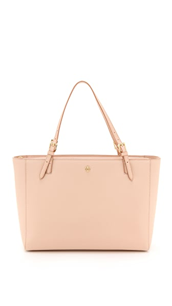 Tory Burch York Buckle Tote - Light Oak