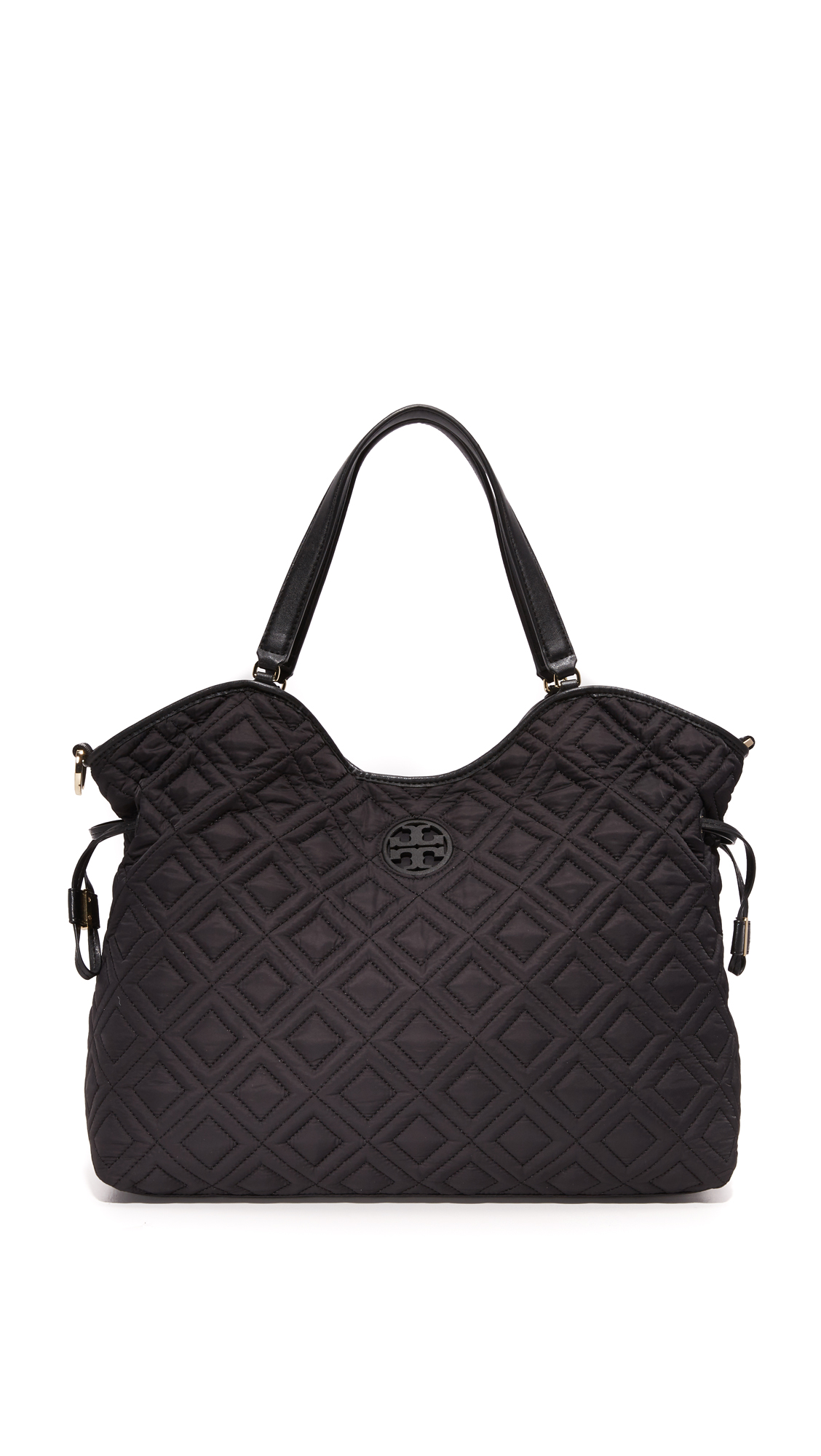 tory burch female 188971 tory burch quilted slouchy baby bag black