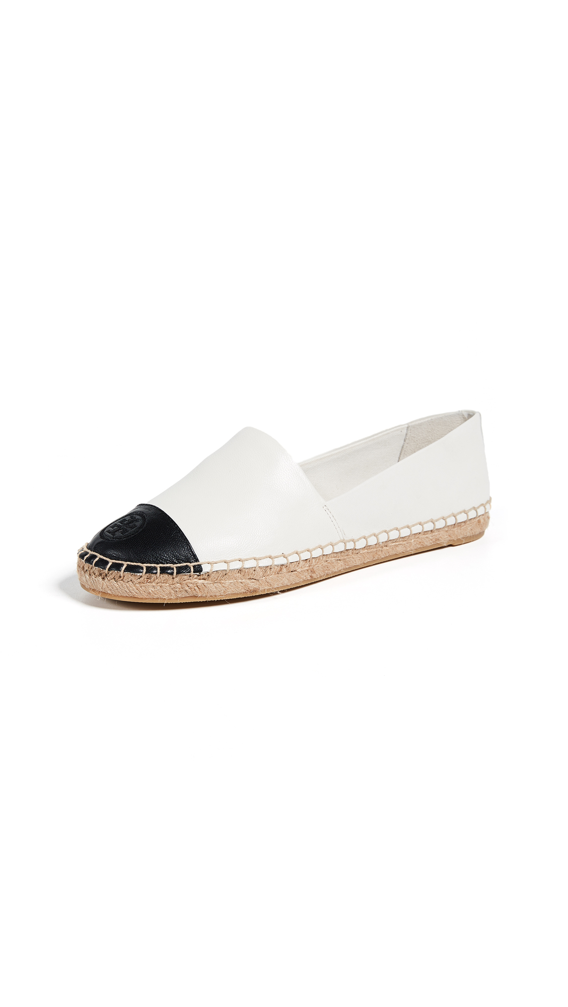 Tory Burch Colorblock Espadrilles - Ivory/Black