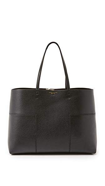 Tory Burch Block T Tote - Black