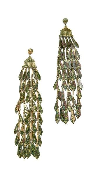 Tory Burch Oxidized Metal Chandelier Earrings