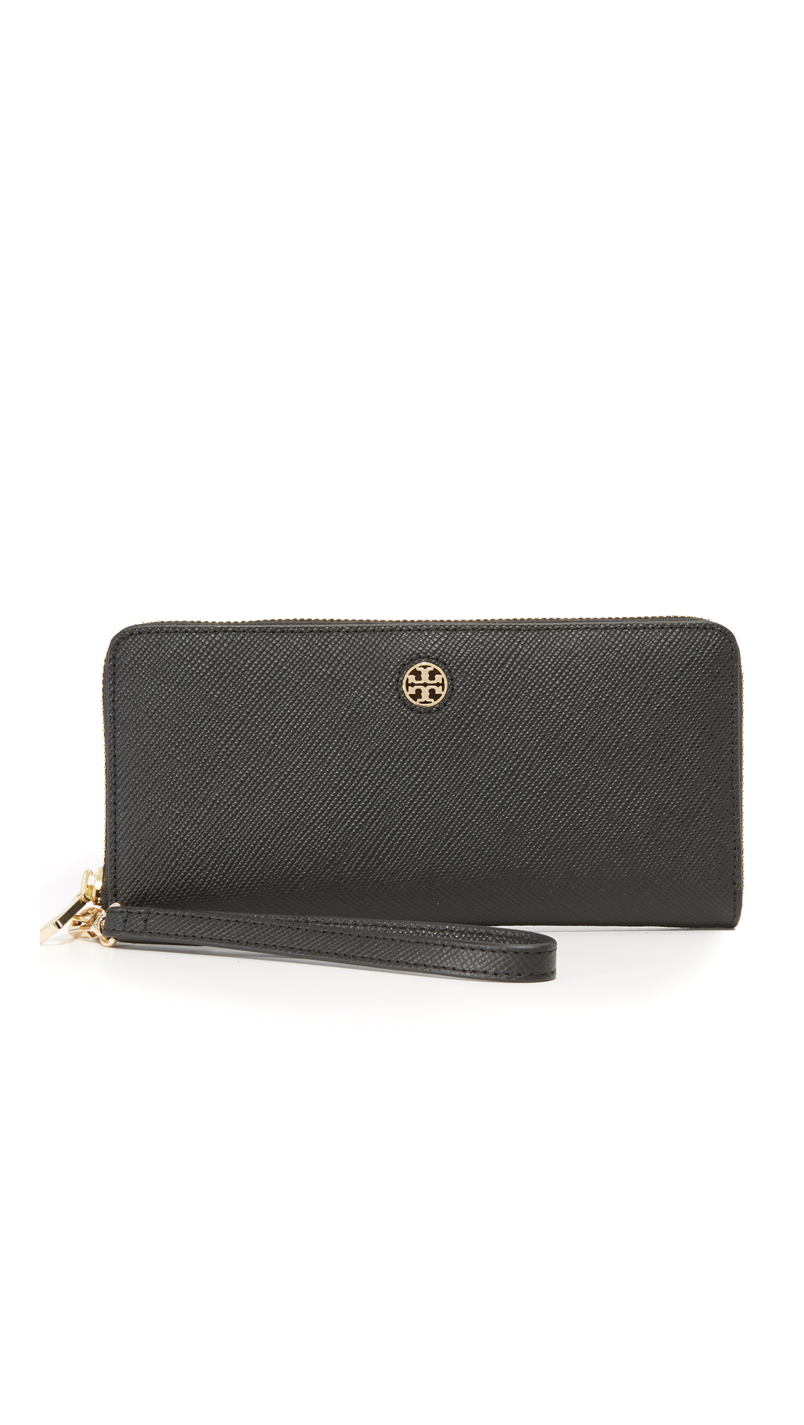 tory burch female tory burch perry zip passport continental wallet black