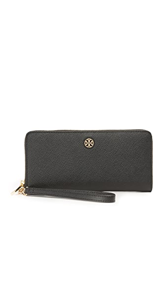 Tory Burch Perry Zip Passport Continental Wallet - Black