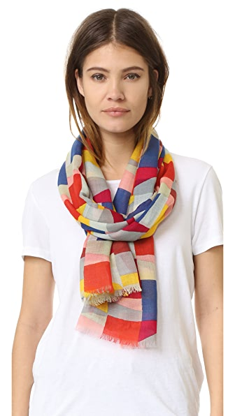 Tory Burch Colorscape Print Scarf