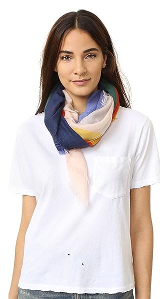Tory Burch Квадратный шарф с принтом Color Field
