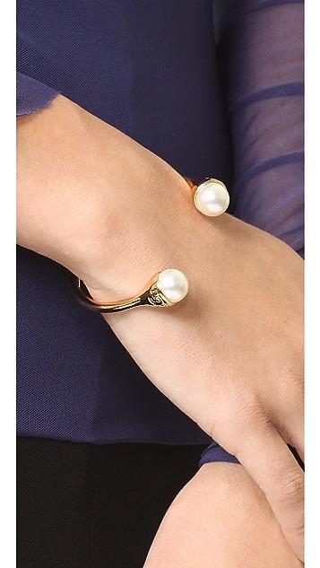 Tory Burch Imitation Pearl Bud Cuff Bracelet