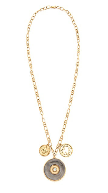 Tory Burch Coin Cluster Pendant Necklace