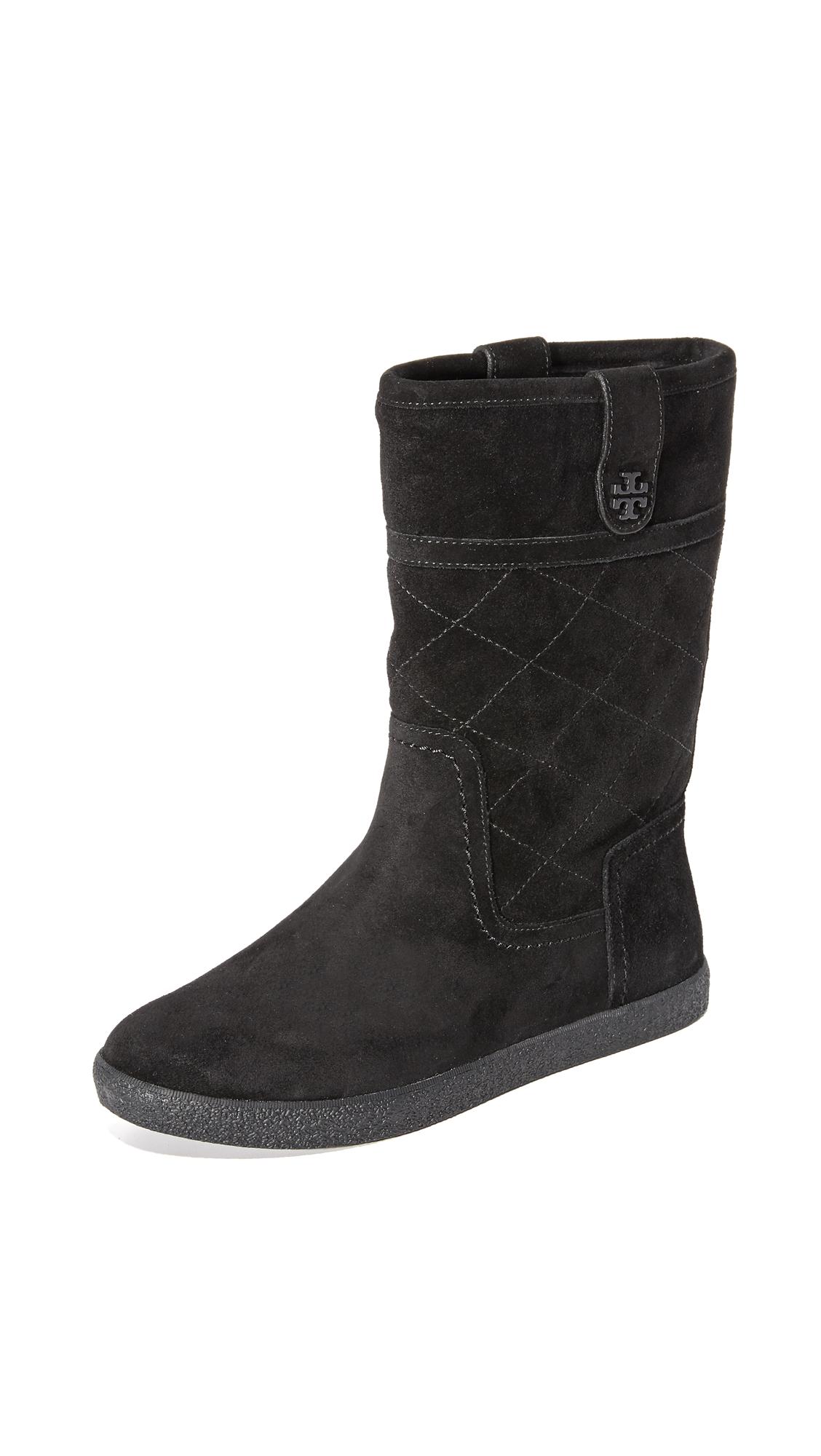 Tory Burch Alana Shearling Boots - Black/Black/Black