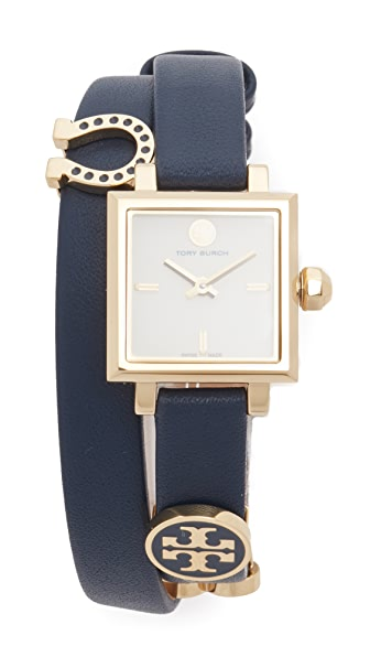 Tory Burch Saucy Watch - Ivory/Gold/Navy