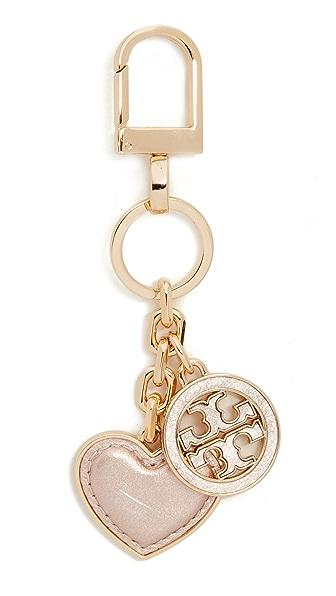 Tory Burch Брелок для ключей в форме сердца с логотипом