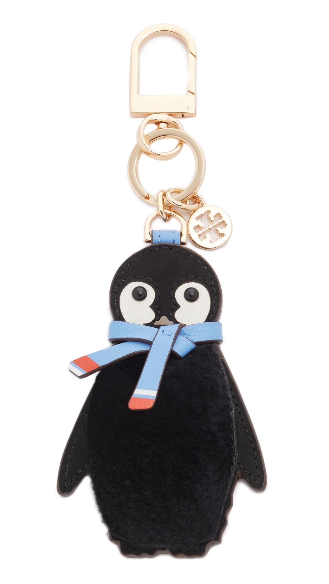 tory burch female tory burch pete penguin key chain dark nicotine
