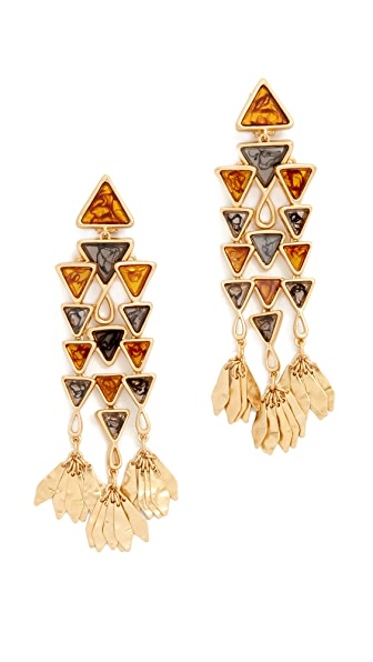 Tory Burch Triangle Chandelier Earrings