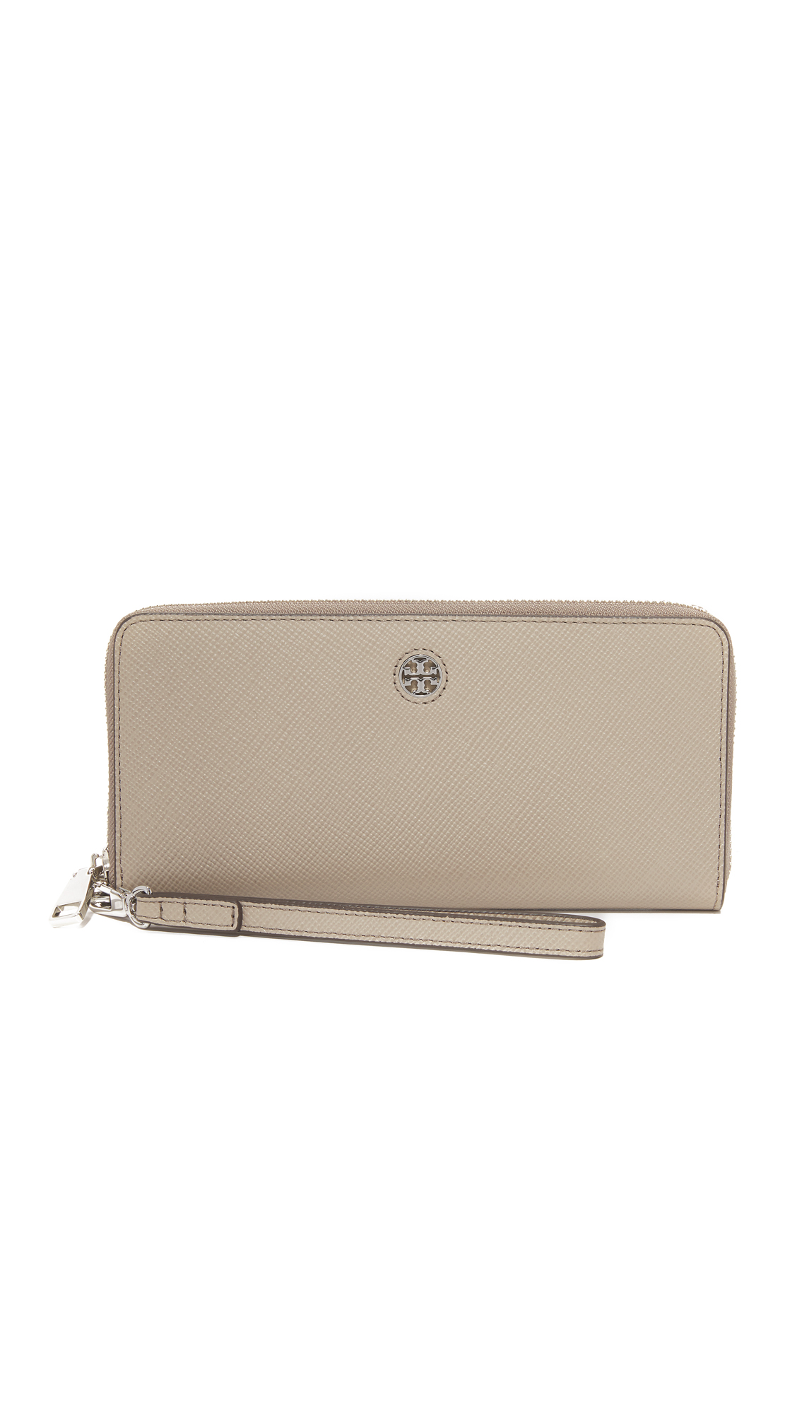 tory burch female tory burch perry zip passport continental wallet french gray