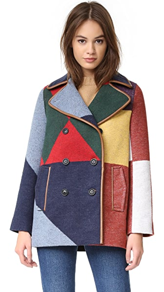 Tory Burch Cheval Pea Coat
