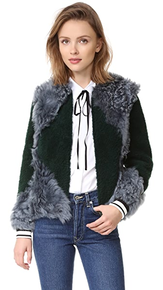Tory Burch Bristol Fur Bomber Jacket