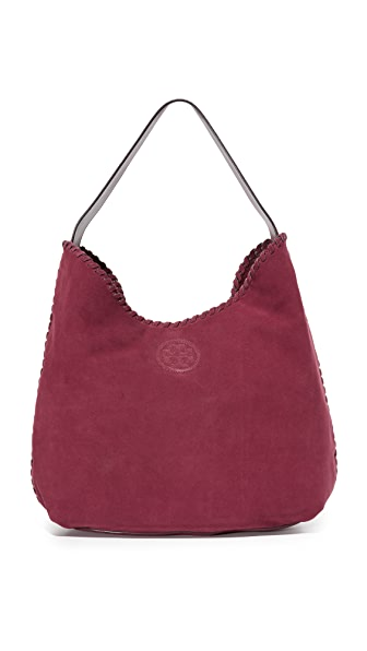 Tory Burch Marion Suede Hobo Bag