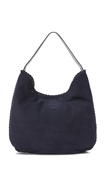 Tory Burch Marion Suede Hobo Bag - True Navy