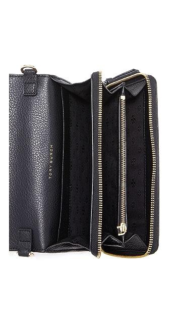 Tory Burch Harper Flat Wallet Cross Body Bag