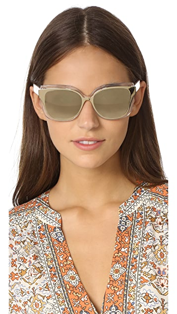 Tory Burch Double Layered Mirrored Sunglasses