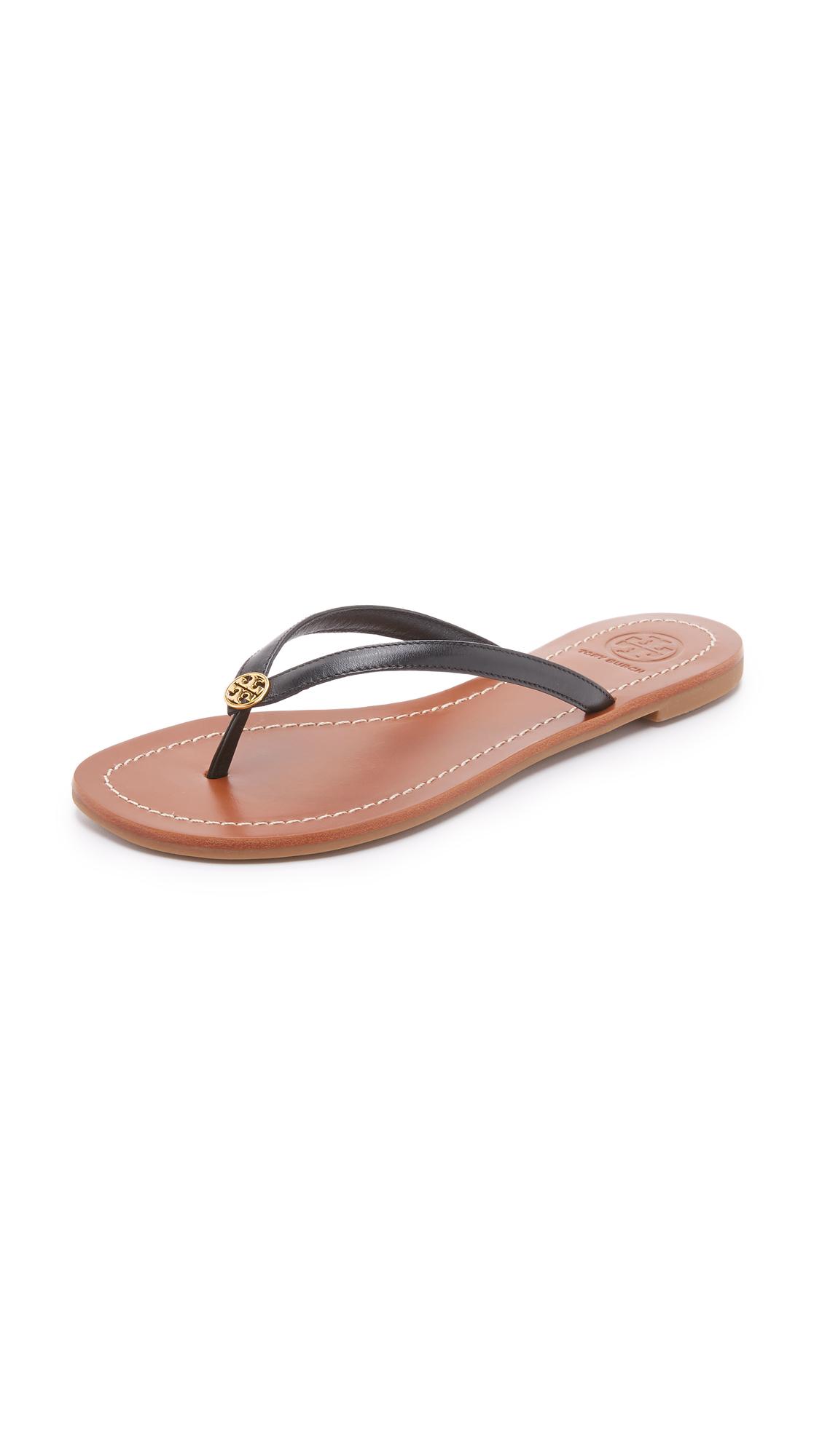 tory burch female tory burch terra thong sandals black