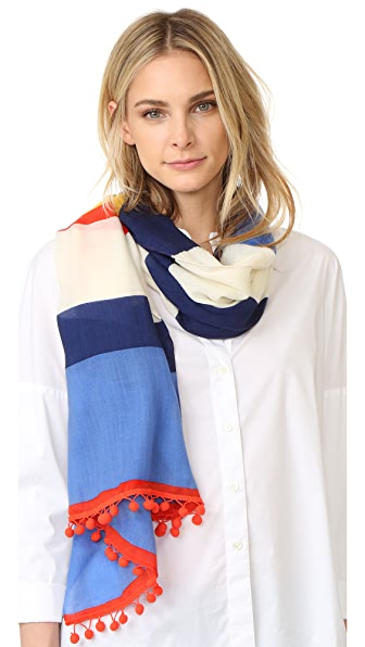 Tory Burch Stripe Oblong Scarf