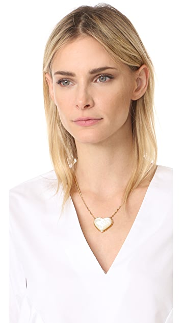 Tory Burch Amore Heart Pendant Necklace