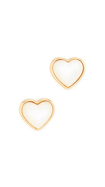 Tory Burch Amore Heart Stud Earrings