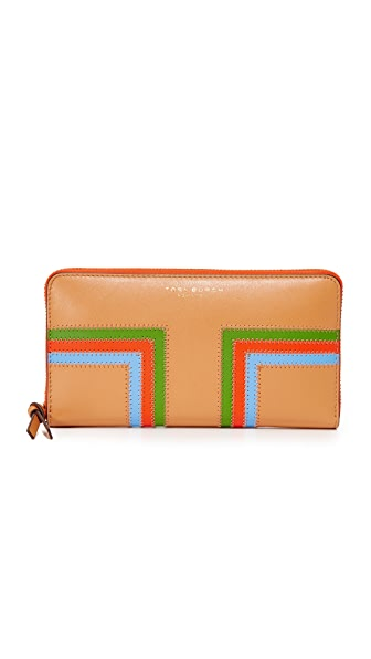Tory Burch Block T Stripe Continental Wallet