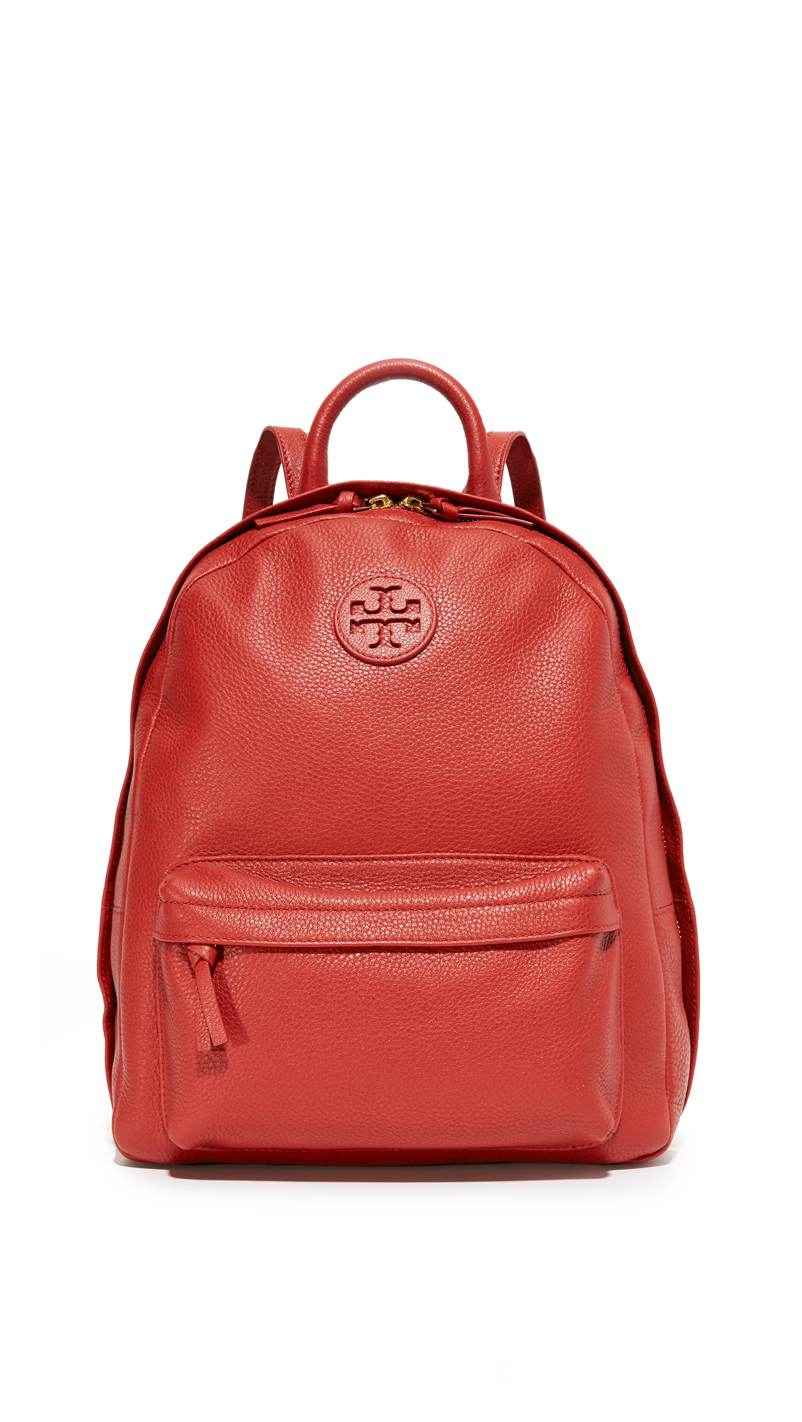 tory burch female tory burch leather backpack light redwood