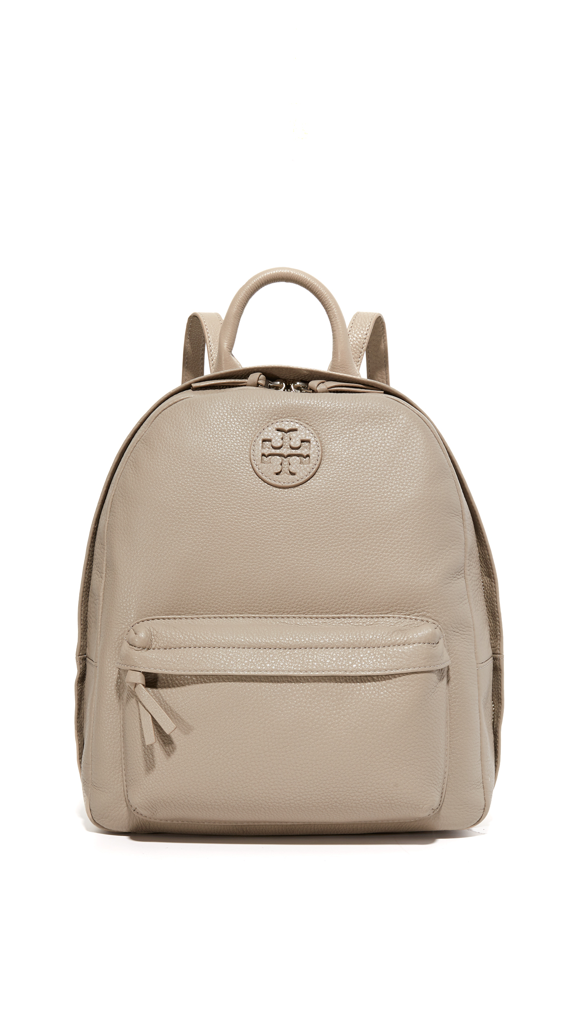 tory burch female tory burch leather backpack french gray