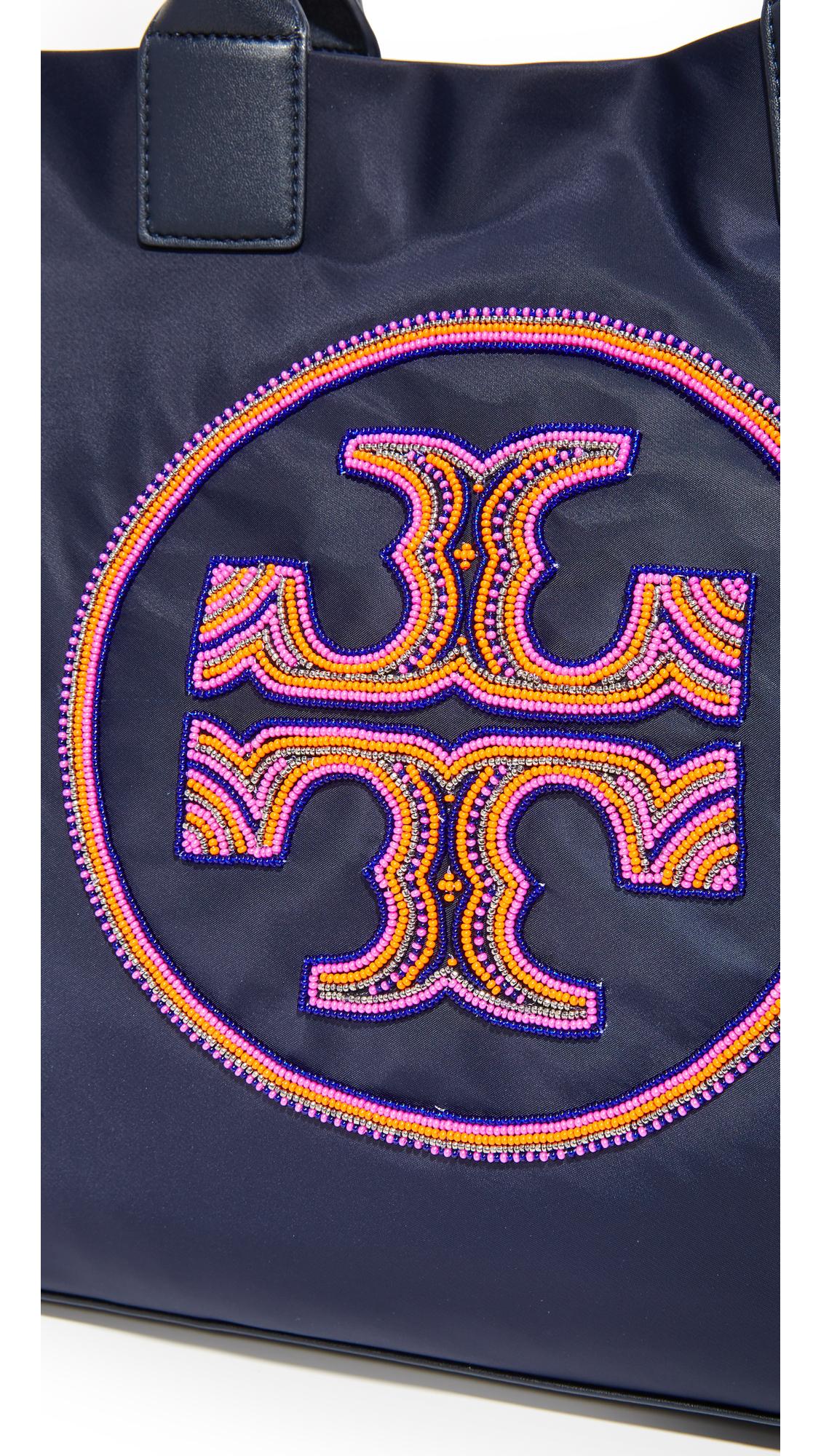 f139a0f10b16 Tory Burch Ella Beaded Logo Tote