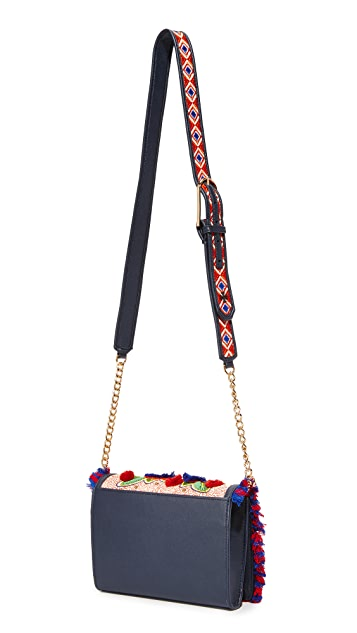Tory Burch Embroidered Floral Combo Cross Body Bag