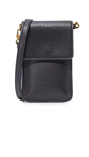 Tory Burch Logo Perf Phone Bag